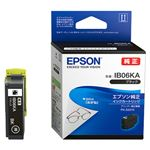 (まとめ) エプソン インクカートリッジ ブラックIB06KA 1個  【×10セット】