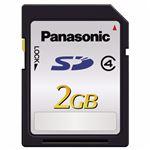 (まとめ) パナソニック SDメモリーカード 2GBClass4 RP-SDL02GJ1K 1枚 【×10セット】