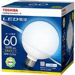(まとめ) 東芝ライテック LED電球 ボール電球形60W形相当 6.5W E26 昼白色 LDG7N-G/60W 1個 【×10セット】