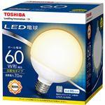 (まとめ) 東芝ライテック LED電球 ボール電球形60W形相当 7.0W E26 電球色 LDG7L-G/60W 1個 【×10セット】
