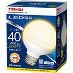 (まとめ) 東芝ライテック LED電球 ボール電球形40W形相当 4.1W E26 電球色 LDG4L-G/G70/40W 1個 【×10セット】