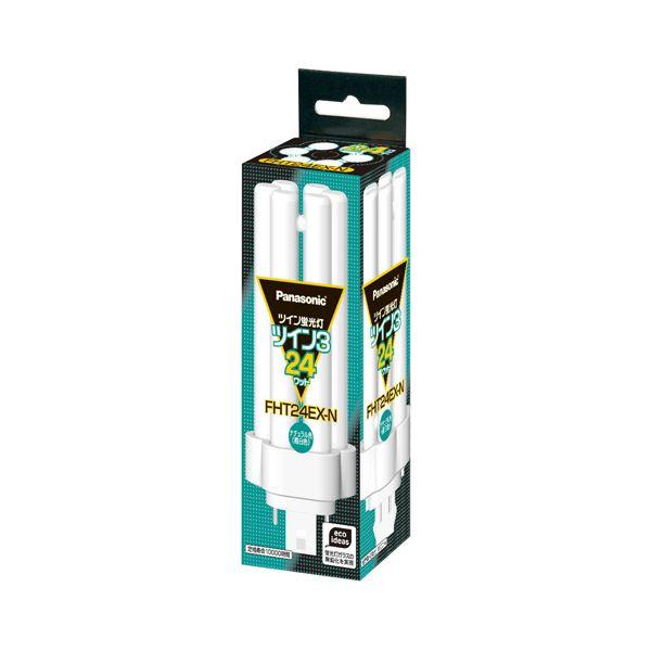 (まとめ) パナソニック ツイン蛍光灯 ツイン324W形 昼白色 FHT24EX-N 1コ 1個 【×10セット】