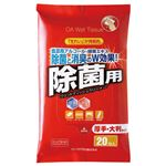 (まとめ) サンワサプライ OAウェットティッシュ除菌用 ハンディパック CD-WT9H20 1個(20枚) 【×30セット】