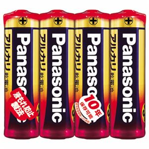 (まとめ) パナソニック アルカリ乾電池 単3形LR6XJ/4SE 1パック(4本) 【×30セット】 - 拡大画像