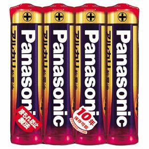 (まとめ) パナソニック アルカリ乾電池 単4形LR03XJ/4SE 1パック(4本) 【×30セット】 - 拡大画像