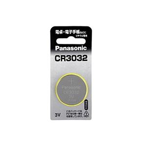 (まとめ) パナソニック コイン形リチウム電池CR3032 1個 【×30セット】 - 拡大画像