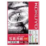 (まとめ) コクヨ インクジェットプリンタ用写真用紙 光沢紙 A4 KJ-G14A4-10N 1冊(10枚)  【×30セット】