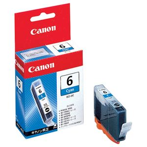 (まとめ) キヤノン Canon インクタンク BCI-6C シアン 4706A001 1個  【×30セット】 - 拡大画像