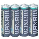 (まとめ) マクセル マンガン乾電池 BLACK単3形 R6PU(BN) 4P 1パック(4本) 【×50セット】
