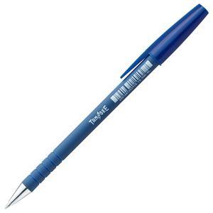 (まとめ) TANOSEE キャップ式油性ボールペン 0.7mm 青 1本  【×300セット】 - 拡大画像