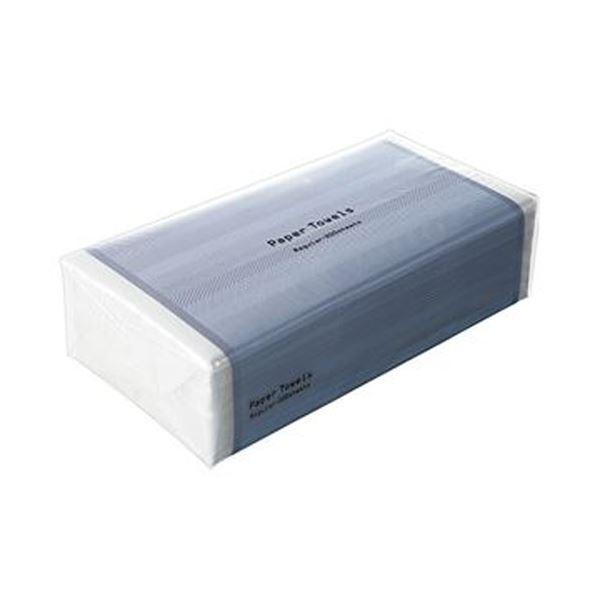(まとめ)TANOSEE ペーパータオル ハードタイプ(レギュラー)200枚 1パック【×50セット】