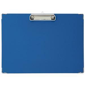 (まとめ)TANOSEE 用箋挟 B4ヨコ ブルー 1枚【×50セット】 - 拡大画像