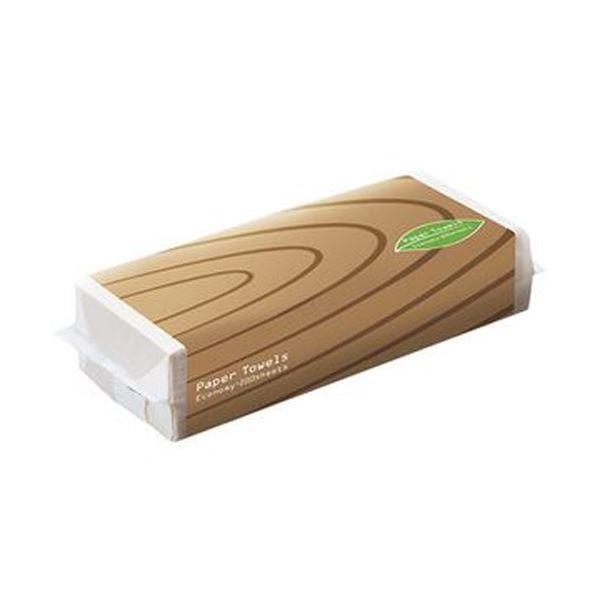 (まとめ)TANOSEE ペーパータオルアースカラー(エコノミー)200枚/パック 1セット(5パック)【×20セット】