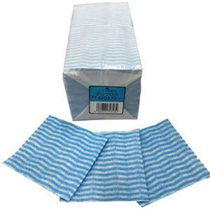 (まとめ)東京メディカル デリクロス 20×20cm ブルー FT-6203 1パック(100枚)【×20セット】 - 拡大画像
