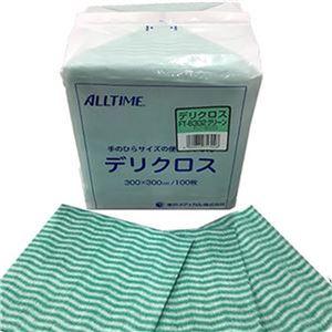 (まとめ)東京メディカル デリクロス 30×30cm グリーン FT-6302 1パック(100枚)【×20セット】 - 拡大画像