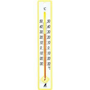 (まとめ)シンワ 寒暖計 25cm イエロー48357 1個【×20セット】 - 拡大画像
