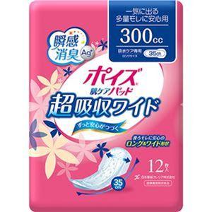 (まとめ)日本製紙 クレシア ポイズ 肌ケアパッド超吸収ワイド 一気に出る多量モレに安心用 1パック(12枚)【×20セット】 - 拡大画像