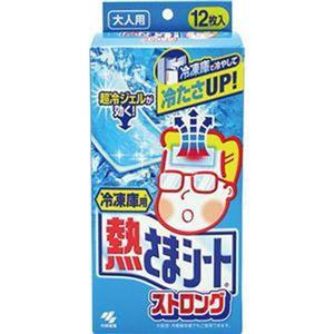(まとめ)小林製薬 冷凍庫用 熱さまシートストロング 大人用 1箱(12枚)【×20セット】 - 拡大画像