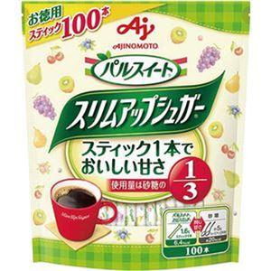 (まとめ)味の素 パルスイートスリムアップシュガー スティック 1.6g 1パック(100本)【×20セット】 - 拡大画像