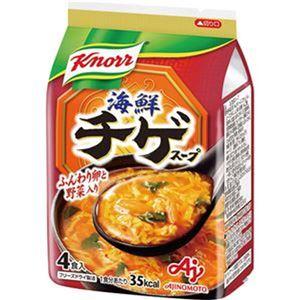 (まとめ)味の素 クノール 海鮮チゲスープ9.4g 1袋(4食)【×20セット】 - 拡大画像
