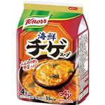 (まとめ)味の素 クノール 海鮮チゲスープ9.4g 1袋(4食)【×20セット】