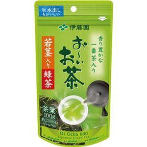 (まとめ)伊藤園 おーいお茶 若茎入り緑茶100g 1袋【×20セット】 - 拡大画像