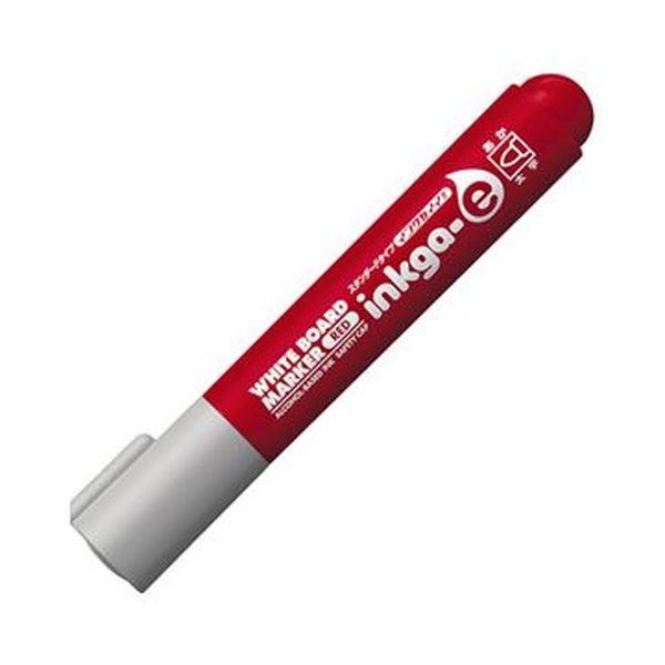 (まとめ)コクヨ ホワイトボードマーカーインクガイイ スタンダードタイプ 太字 赤 PM-BN103R 1セット(10本)【×10セット】