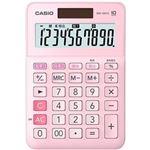 (まとめ)カシオ W税率電卓 10桁ミニジャストタイプ ピンク MW-100TC-PK-N 1台【×10セット】