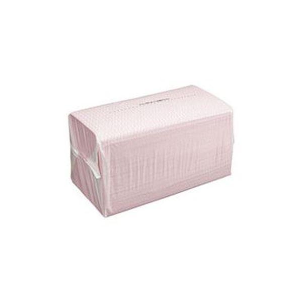 (まとめ)TANOSEE カウンタークロス ピンク 1パック(100枚)【×10セット】