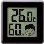 (まとめ)ドリテック デジタル温湿度計 ピッコラ ブラック O-282BK 1個【×10セット】