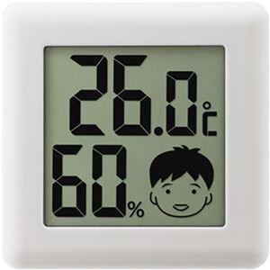 (まとめ)ドリテック デジタル温湿度計 ピッコラホワイト O-282WT 1個【×10セット】 - 拡大画像
