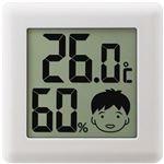 (まとめ)ドリテック デジタル温湿度計 ピッコラホワイト O-282WT 1個【×10セット】