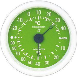 (まとめ)タニタ アナログ温湿度計 グリーンTT-515-GR 1個【×10セット】 - 拡大画像
