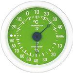 (まとめ)タニタ アナログ温湿度計 グリーンTT-515-GR 1個【×10セット】