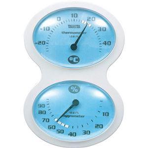 (まとめ)タニタ 温湿度計 ブルーTT-509-BL 1個【×10セット】 - 拡大画像