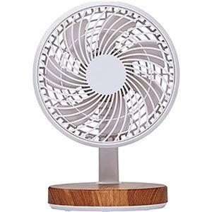 (まとめ)コイズミ 卓上扇風機 木目KLF-1395/MY 1台【×10セット】 - 拡大画像