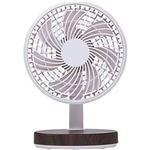 (まとめ)コイズミ 卓上扇風機 木目KLF-1395/MR 1台【×10セット】
