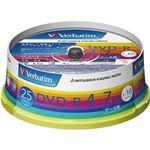 (まとめ)バーベイタム データ用DVD-R4.7GB 1-16倍速 ホワイトワイドプリンタブル スピンドルケース DHR47JP25V1 1パック(25枚)【×10セット】
