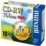 (まとめ)マクセル データ用CD-RW 700MB4倍速 ブランドシルバー 5mmスリムケース CDRW80MQ.S1P10S 1パック(10枚)【×10セット】