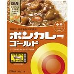(まとめ)大塚食品 ボンカレーゴールド 中辛180g 1セット(10食)【×10セット】