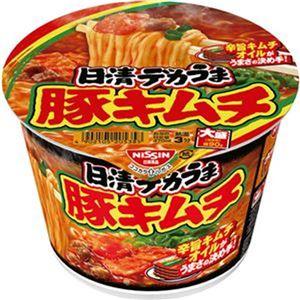 (まとめ)日清食品 日清デカうま 豚キムチ 1ケース(12食)【×10セット】 - 拡大画像