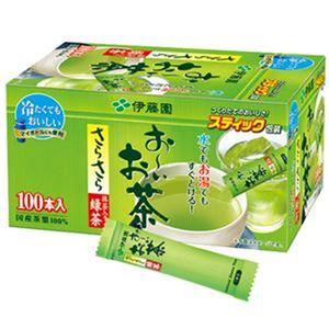(まとめ)伊藤園 おーいお茶 さらさら抹茶入り緑茶スティック 0.8g 1箱(100本)【×10セット】 - 拡大画像