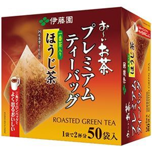 (まとめ)伊藤園 おーいお茶プレミアムティーバッグ 一番茶入りほうじ茶 1.8g 1箱(50バッグ)【×10セット】 - 拡大画像
