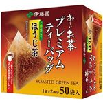 (まとめ)伊藤園 おーいお茶プレミアムティーバッグ 一番茶入りほうじ茶 1.8g 1箱(50バッグ)【×10セット】