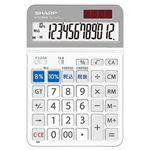 (まとめ)シャープ 電卓 軽減税率対応モデル12桁 セミデスクトップ EL-SA72-X 1台【×5セット】