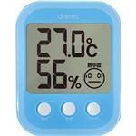 (まとめ)ドリテック デジタル温湿度計オプシスプラス ブルー O-251BL 1個【×5セット】