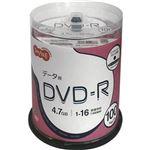 (まとめ)TANOSEE データ用DVD-R4.7GB 1-16倍速 ホワイトワイドプリンタブル スピンドルケース 1パック(100枚)【×5セット】