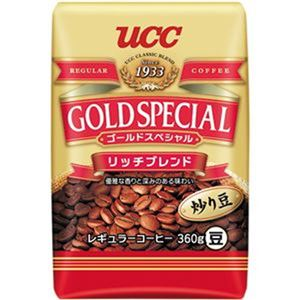 (まとめ)UCC ゴールドスペシャルリッチブレンド 360g(豆)/袋 1セット(3袋)【×5セット】 - 拡大画像