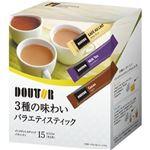 (まとめ)ドトールコーヒー 3種の味わいバラエティスティック 1セット(60本:15本×4箱)【×5セット】