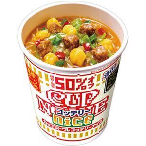 (まとめ)日清食品 カップ ヌードルコッテリーナイス 濃厚 ポークしょうゆ 57g 1ケース(12食)【×4セット】 - 拡大画像